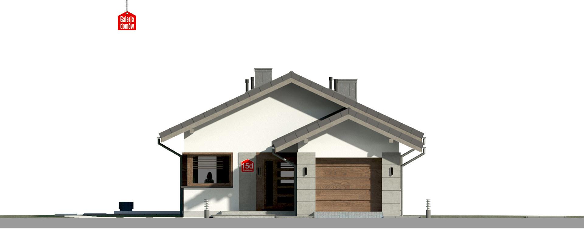 Dom przy Pastelowej 15 D - elewacja frontowa