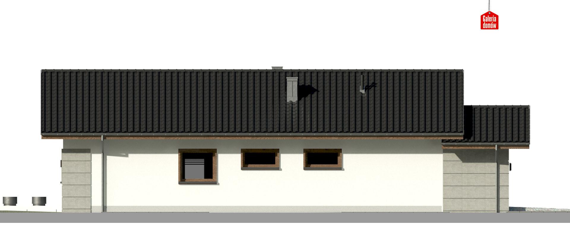 Dom przy Pastelowej 15 D - elewacja prawa