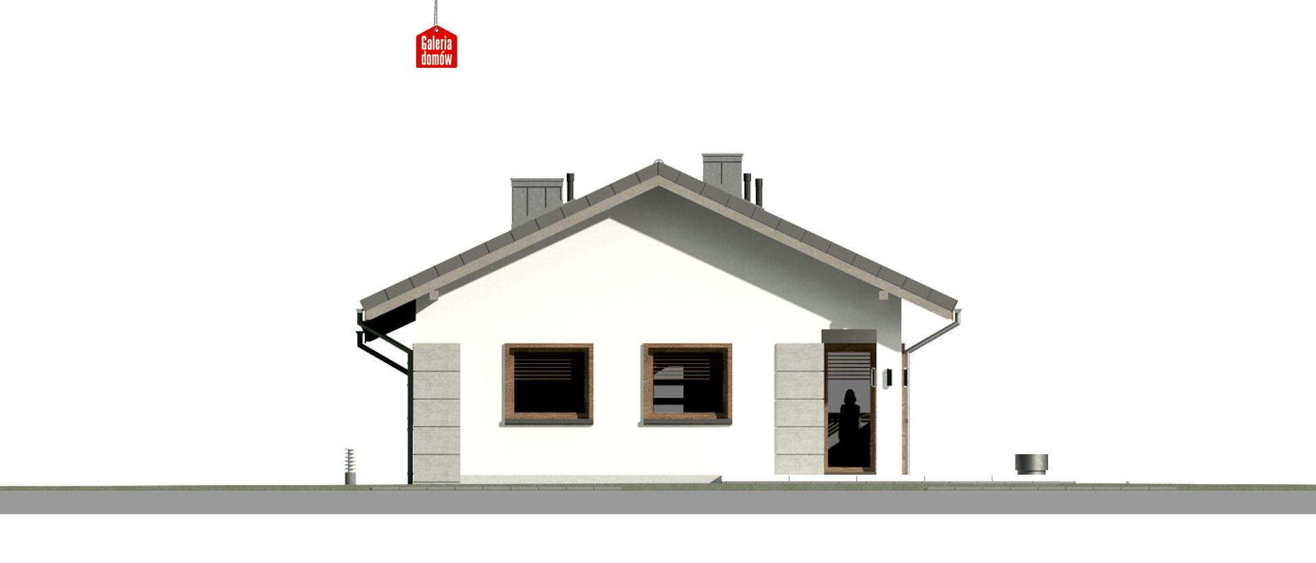Dom przy Pastelowej 15 D - elewacja tylna