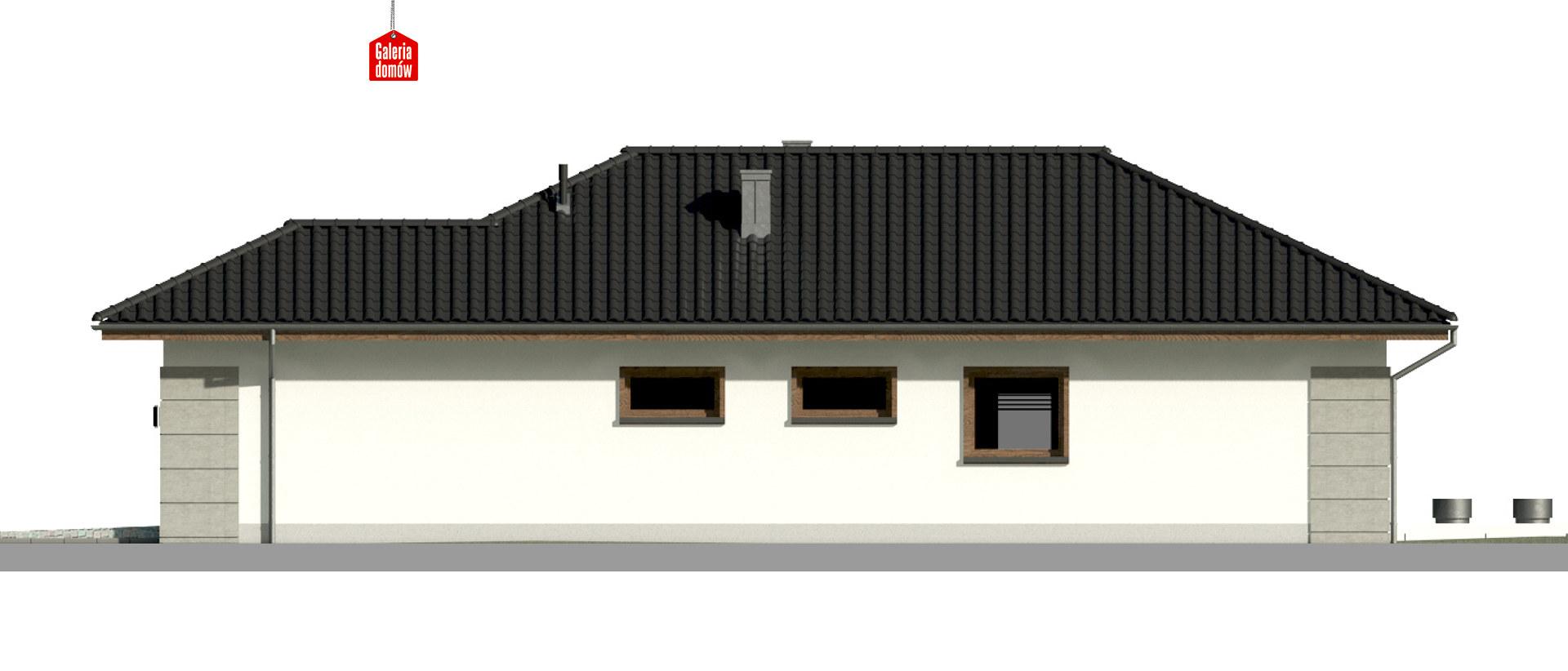 Dom przy Pastelowej 15 - elewacja prawa