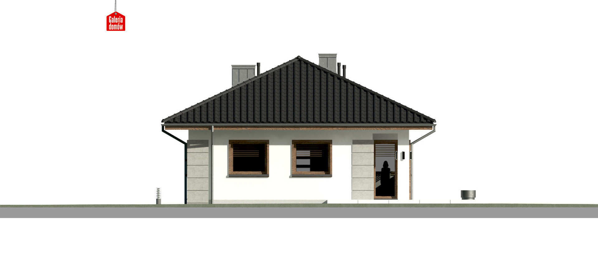 Dom przy Pastelowej 15 - elewacja tylna