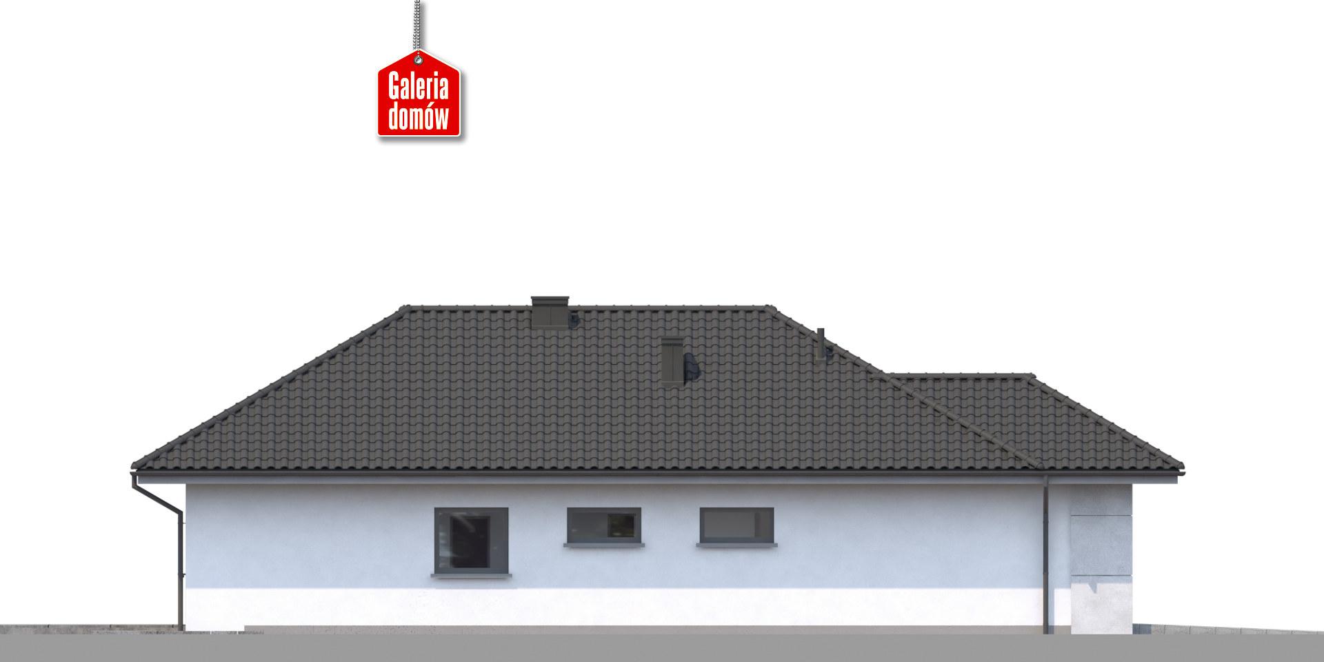 Dom przy Pastelowej 16 bis - elewacja frontowa