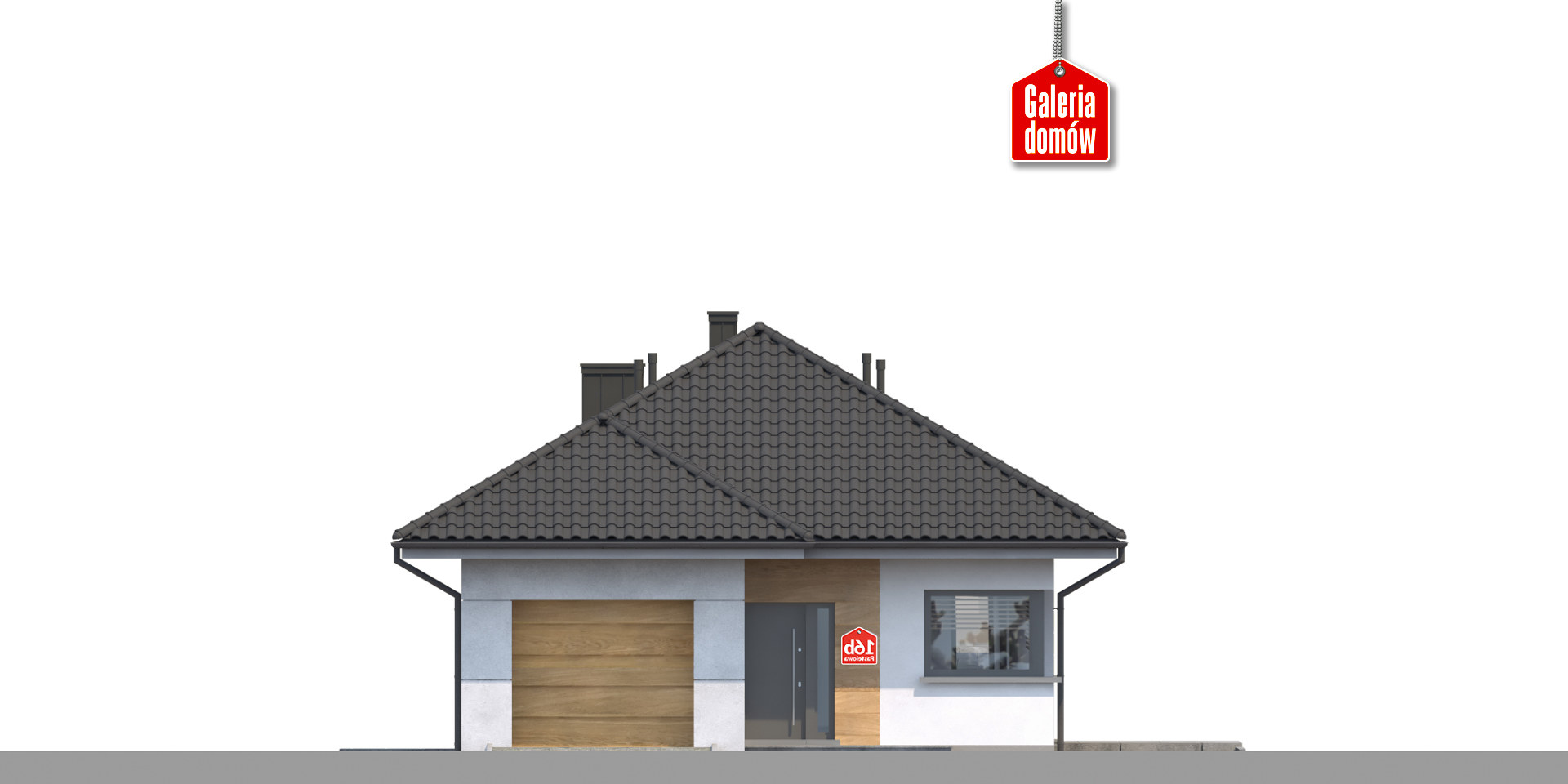 Dom przy Pastelowej 16 bis - elewacja prawa