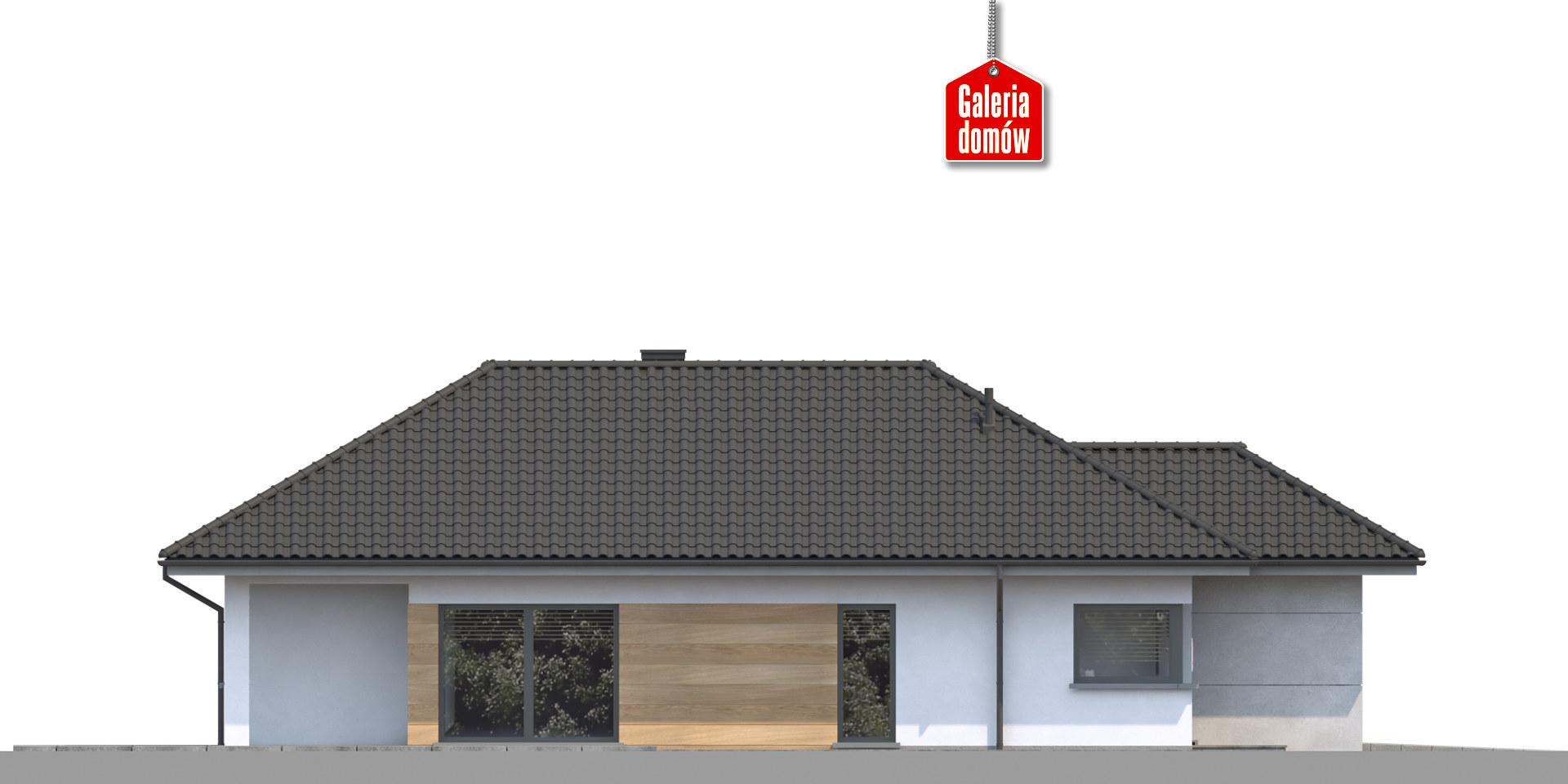 Dom przy Pastelowej 16 bis - elewacja tylna