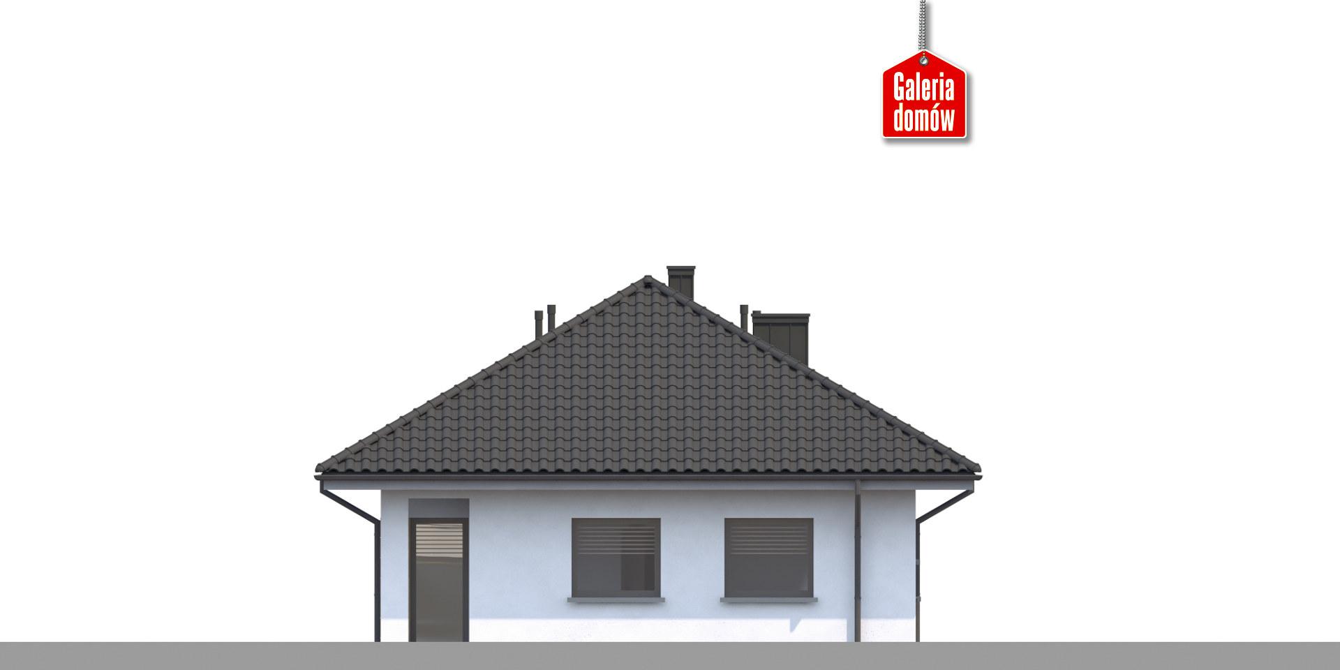 Dom przy Pastelowej 16 bis - elewacja lewa