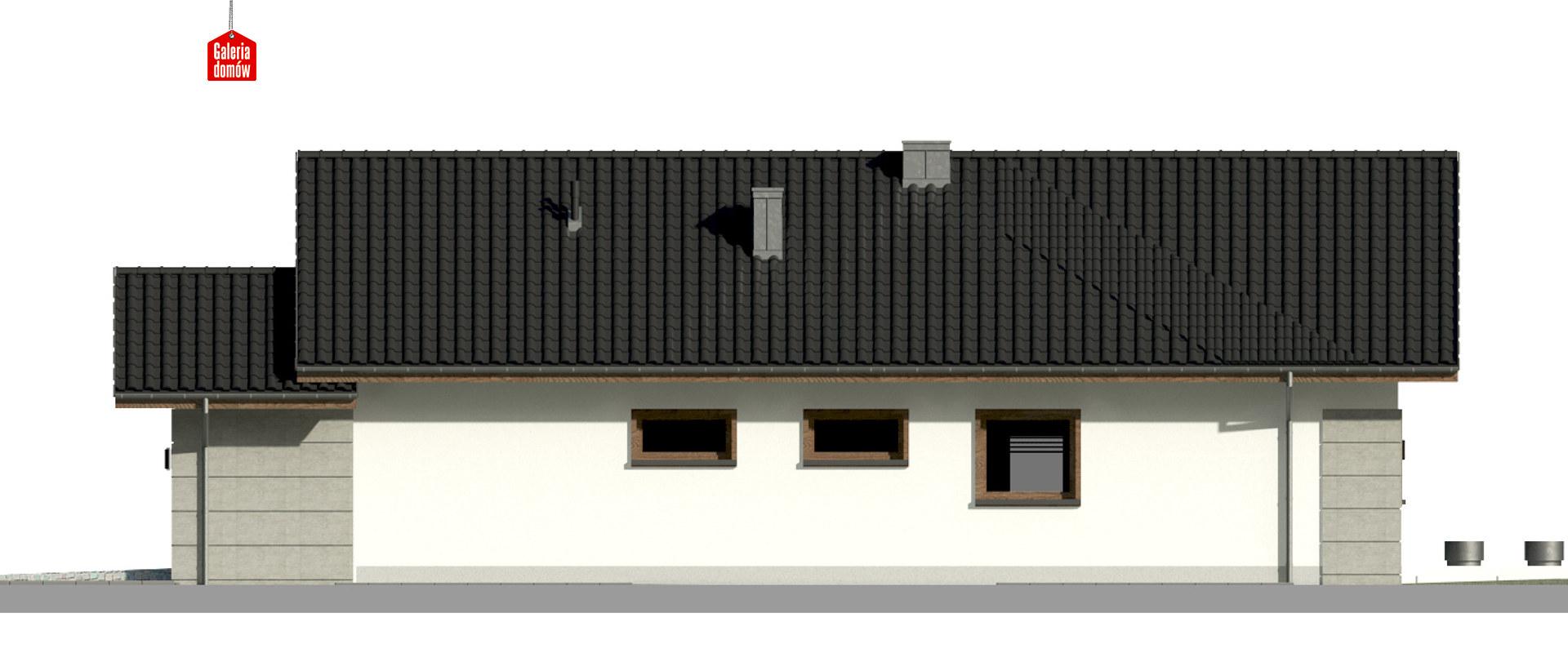 Dom przy Pastelowej 16 D bis - elewacja prawa
