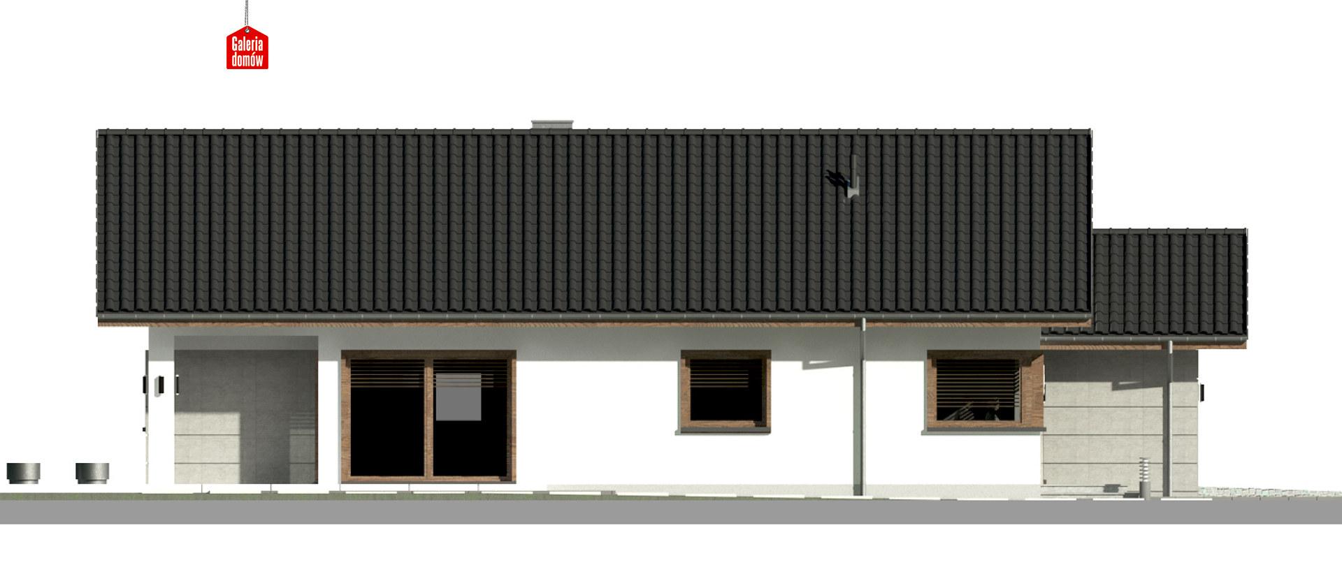 Dom przy Pastelowej 16 D bis - elewacja lewa