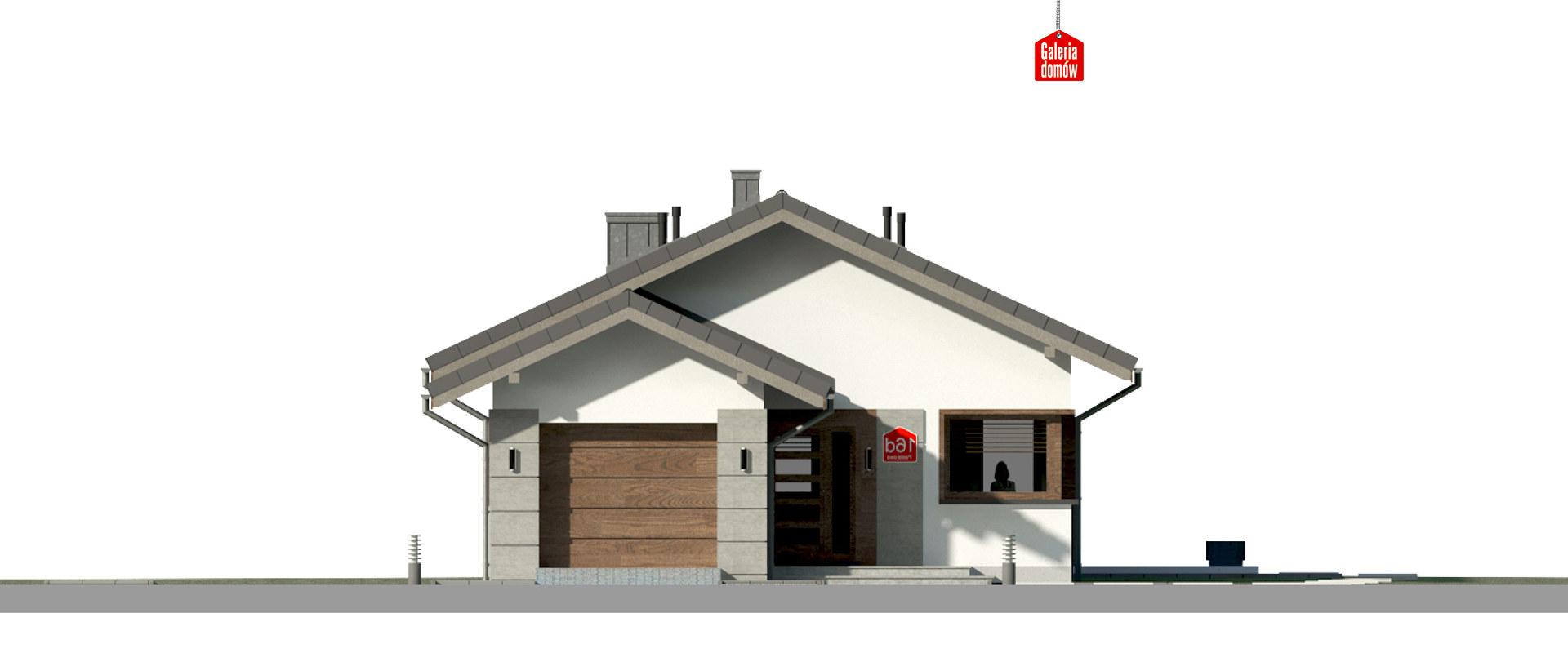 Dom przy Pastelowej 16 D - elewacja frontowa