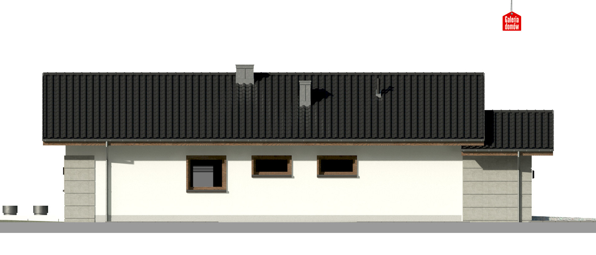 Dom przy Pastelowej 16 D - elewacja prawa
