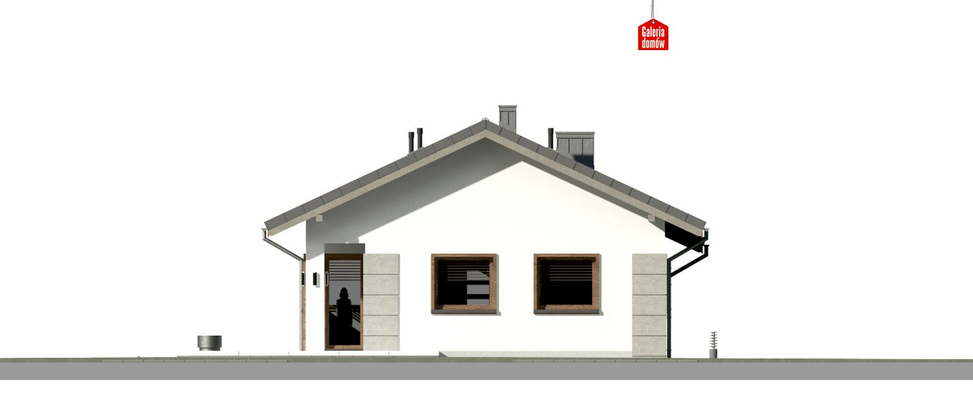 Dom przy Pastelowej 16 D - elewacja tylna