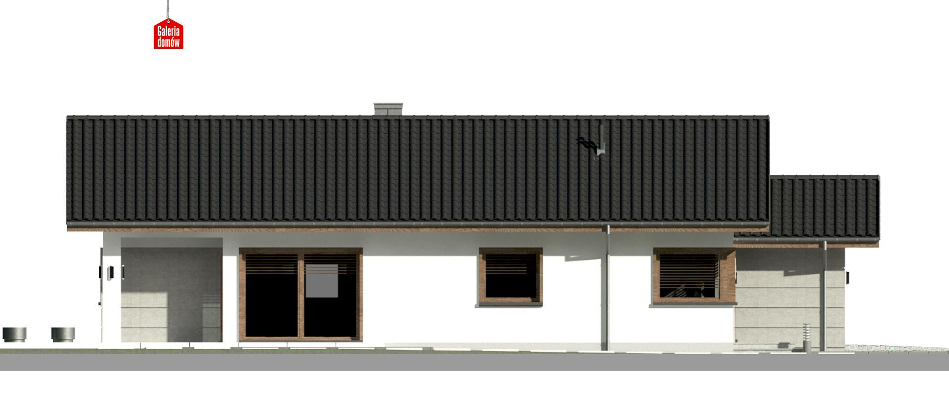 Dom przy Pastelowej 16 D - elewacja lewa