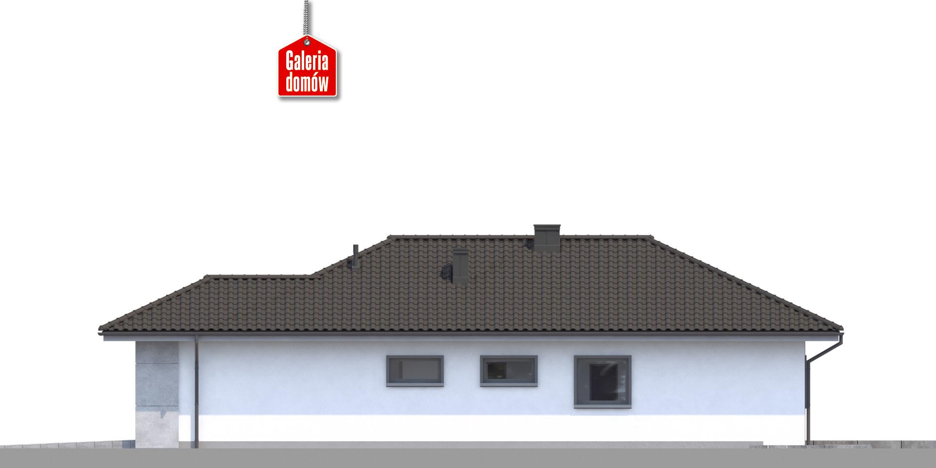 Dom przy Pastelowej 16 - elewacja frontowa