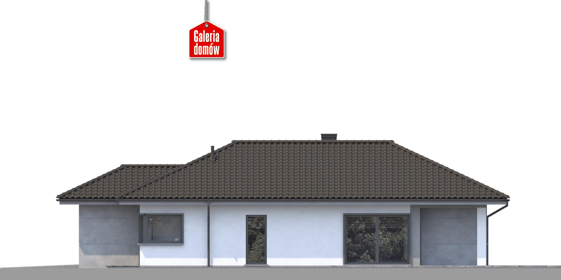 Dom przy Pastelowej 16 - elewacja tylna