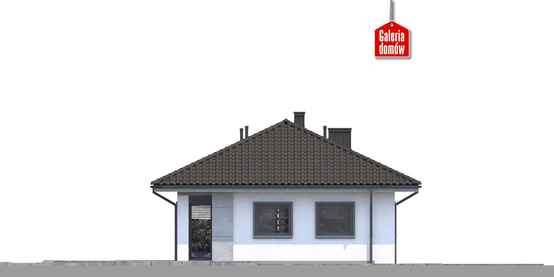Dom przy Pastelowej 16 - elewacja lewa