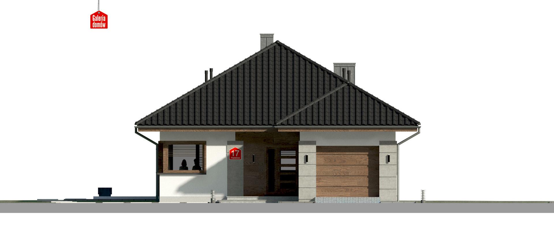 Dom przy Pastelowej 17 bis - elewacja frontowa