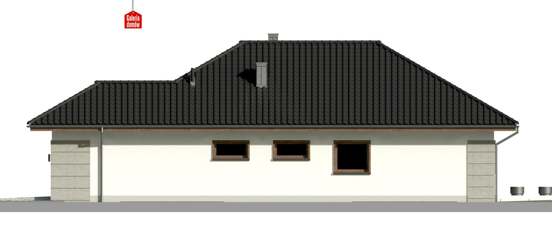 Dom przy Pastelowej 17 bis - elewacja prawa