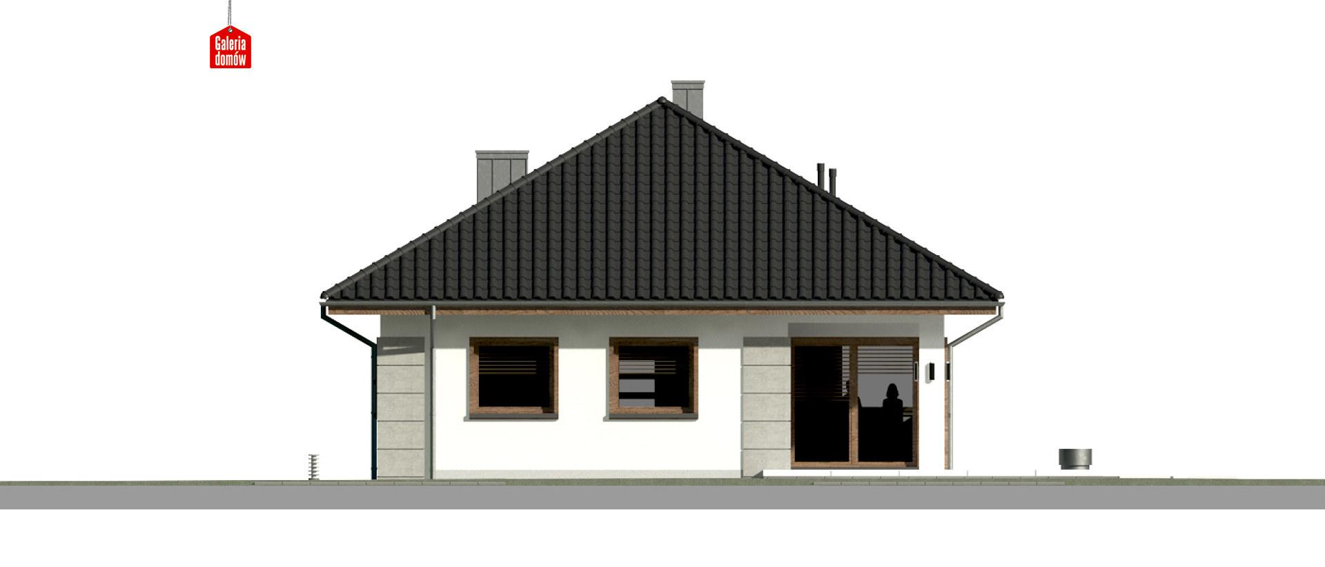 Dom przy Pastelowej 17 bis - elewacja tylna