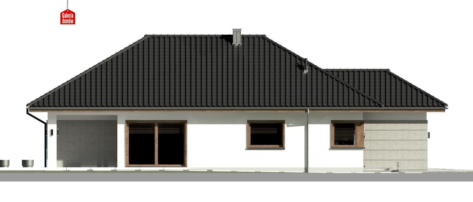 Dom przy Pastelowej 17 bis - elewacja lewa