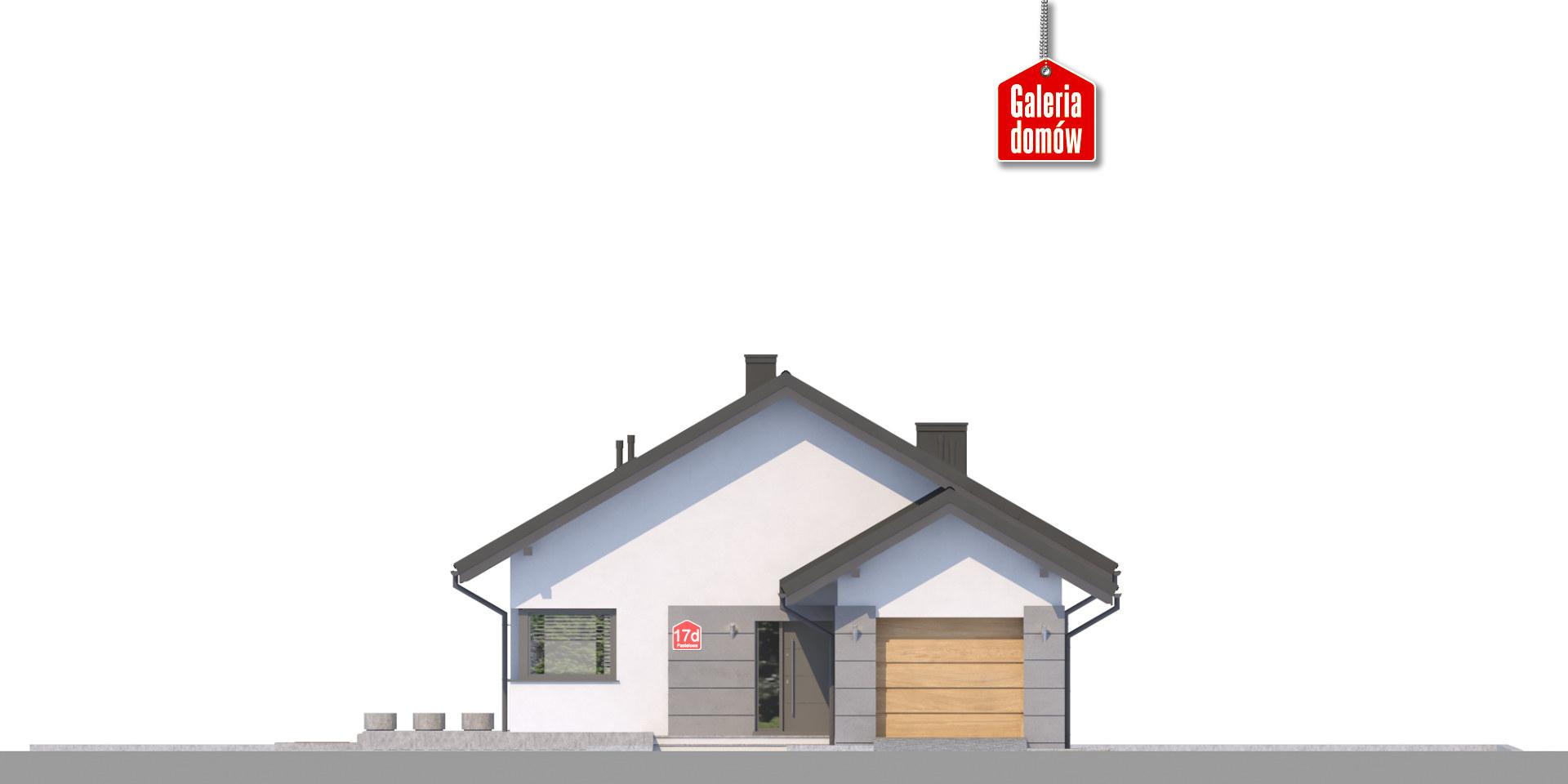 Dom przy Pastelowej 17 D bis - elewacja frontowa