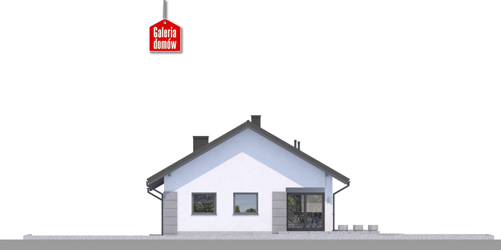 Dom przy Pastelowej 17 D bis - elewacja tylna