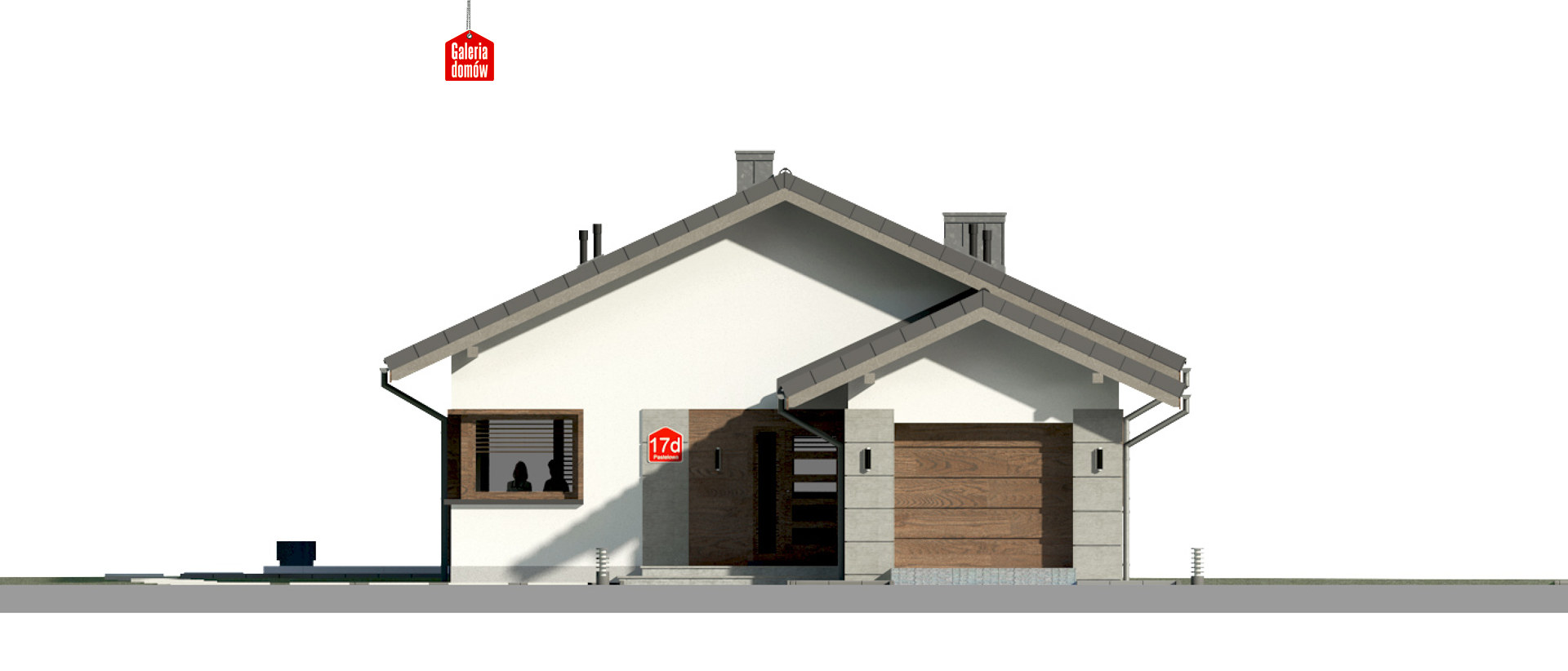 Dom przy Pastelowej 17 D - elewacja frontowa