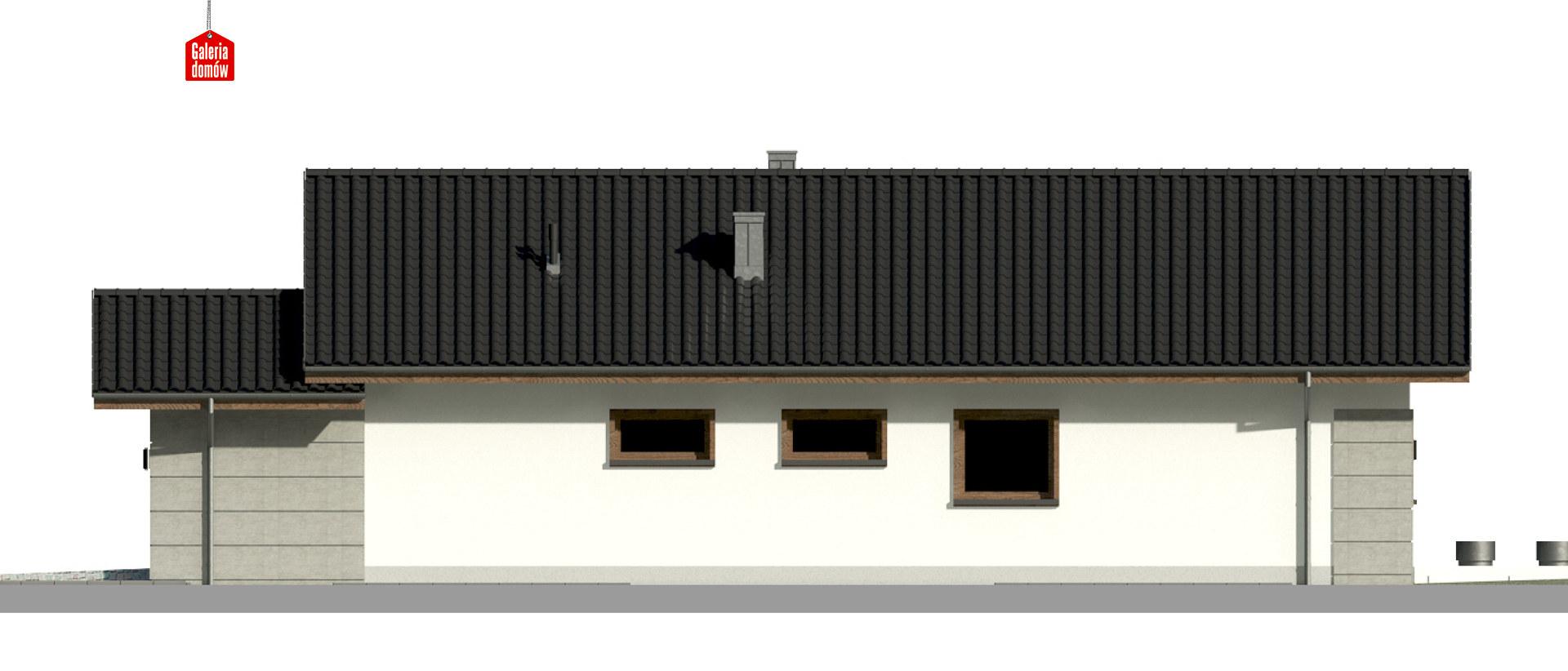 Dom przy Pastelowej 17 D - elewacja prawa