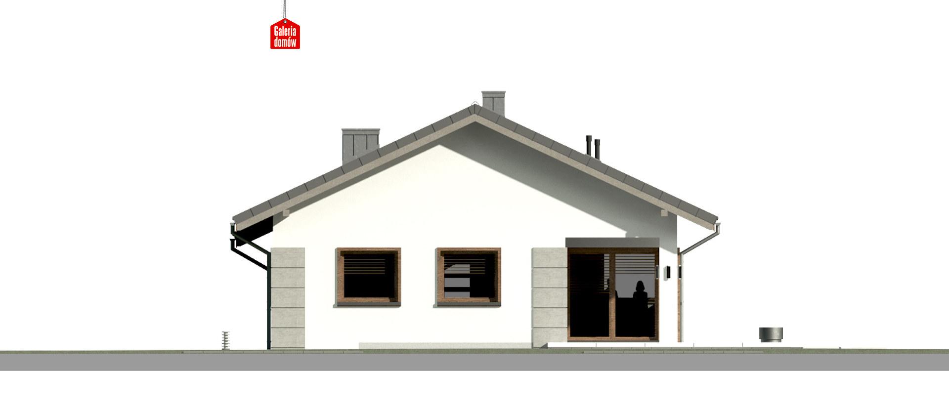 Dom przy Pastelowej 17 D - elewacja tylna