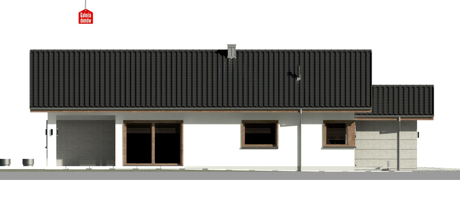 Dom przy Pastelowej 17 D - elewacja lewa