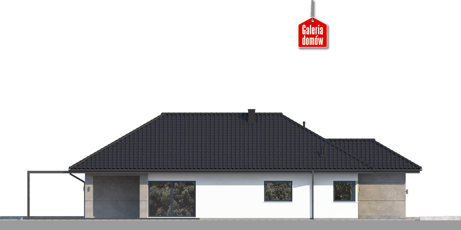 Dom przy Pastelowej 18 bis - elewacja tylna