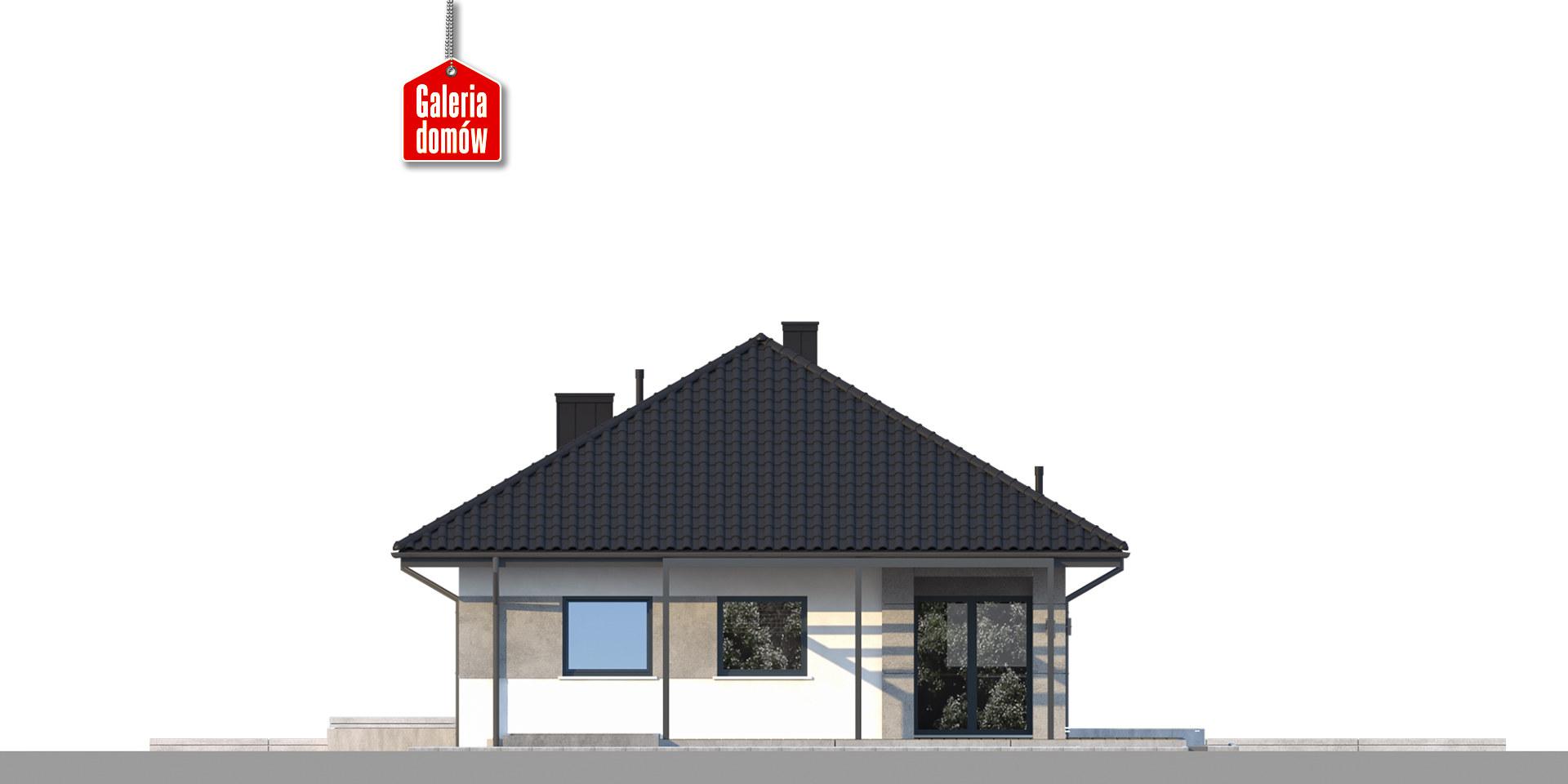 Dom przy Pastelowej 18 bis - elewacja lewa