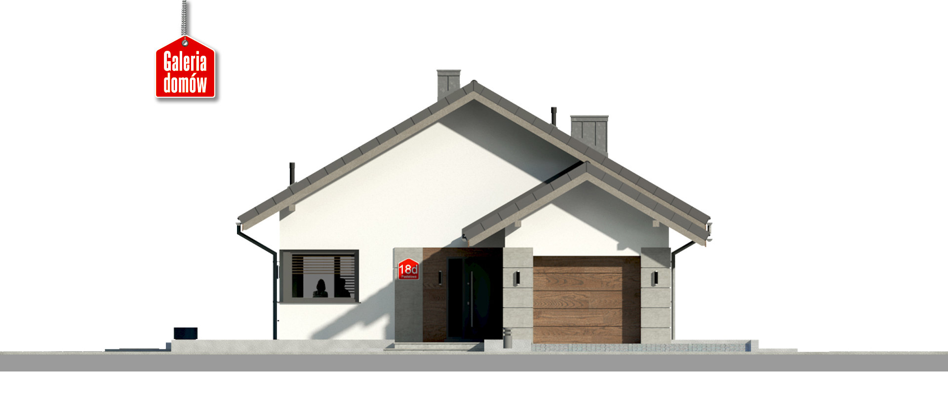 Dom przy Pastelowej 18 D bis - elewacja frontowa