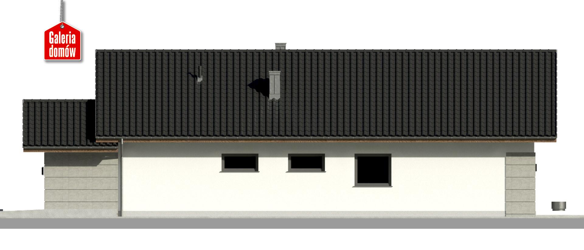 Dom przy Pastelowej 18 D bis - elewacja prawa