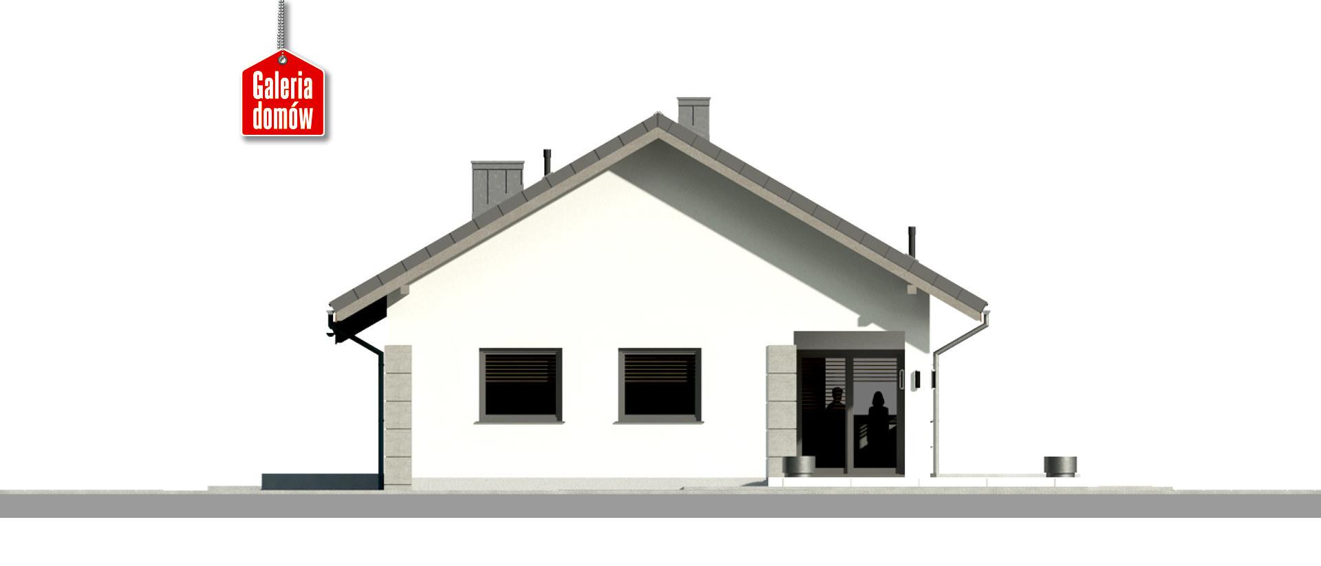 Dom przy Pastelowej 18 D bis - elewacja tylna
