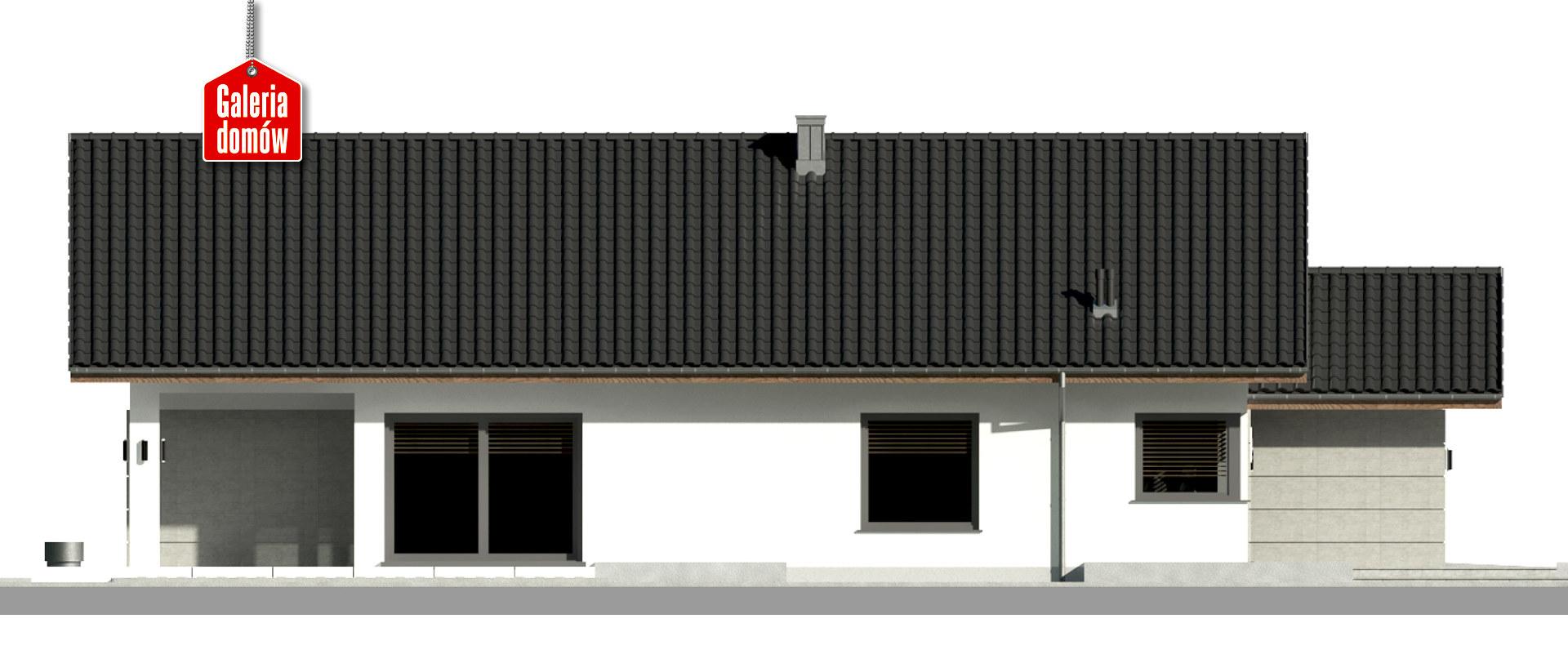 Dom przy Pastelowej 18 D bis - elewacja lewa