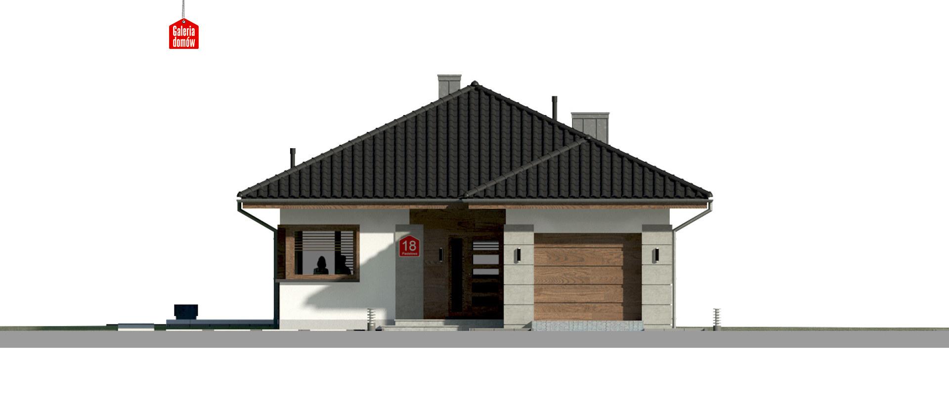 Dom przy Pastelowej 18 - elewacja frontowa