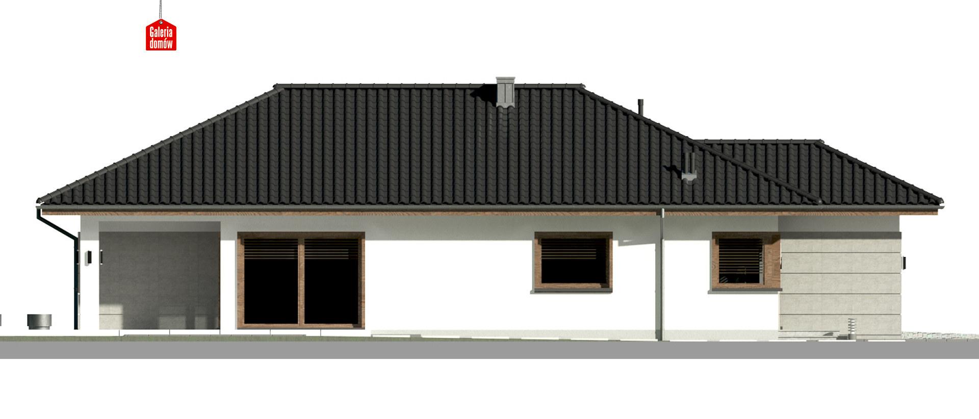 Dom przy Pastelowej 18 - elewacja lewa