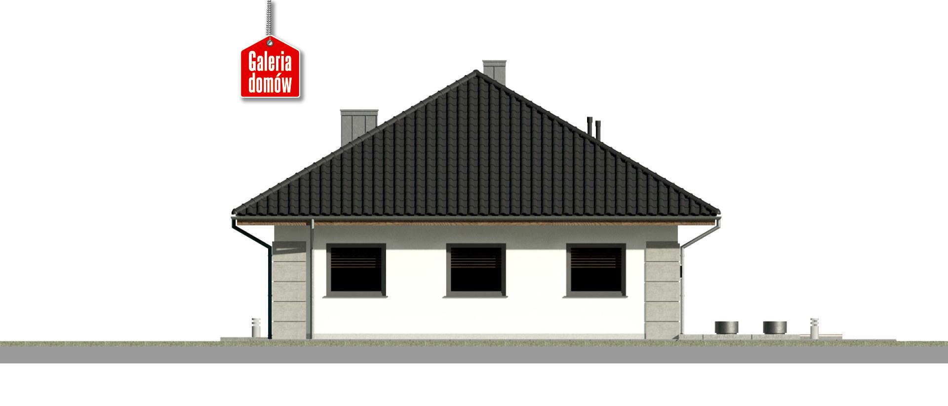 Dom przy Pastelowej 19 bis - elewacja tylna