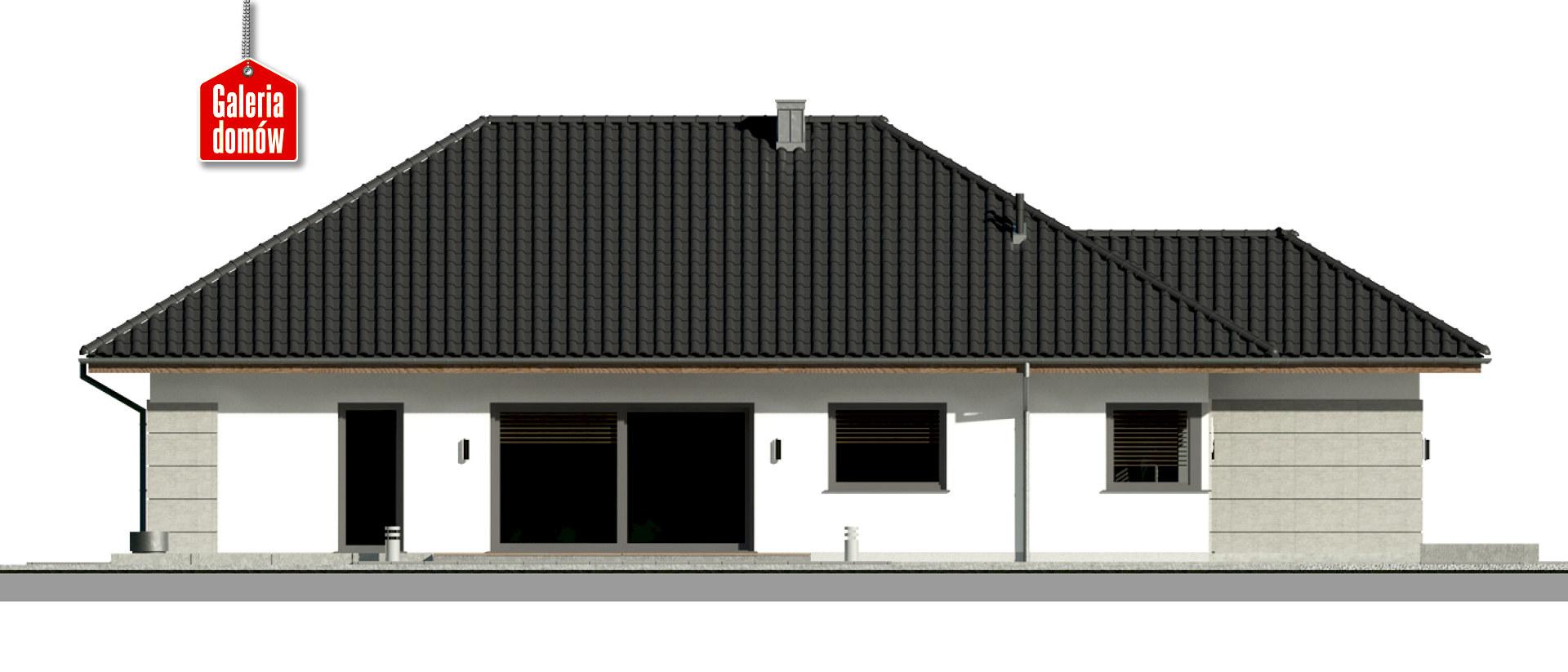Dom przy Pastelowej 19 bis - elewacja lewa