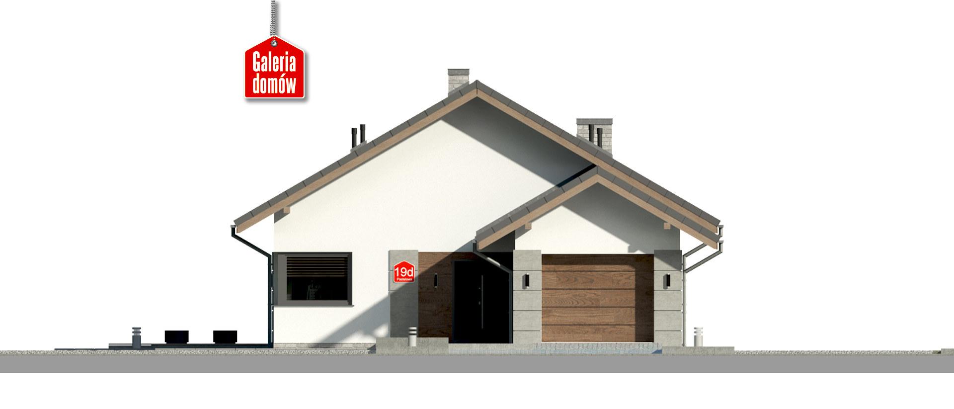 Dom przy Pastelowej 19 D bis - elewacja frontowa
