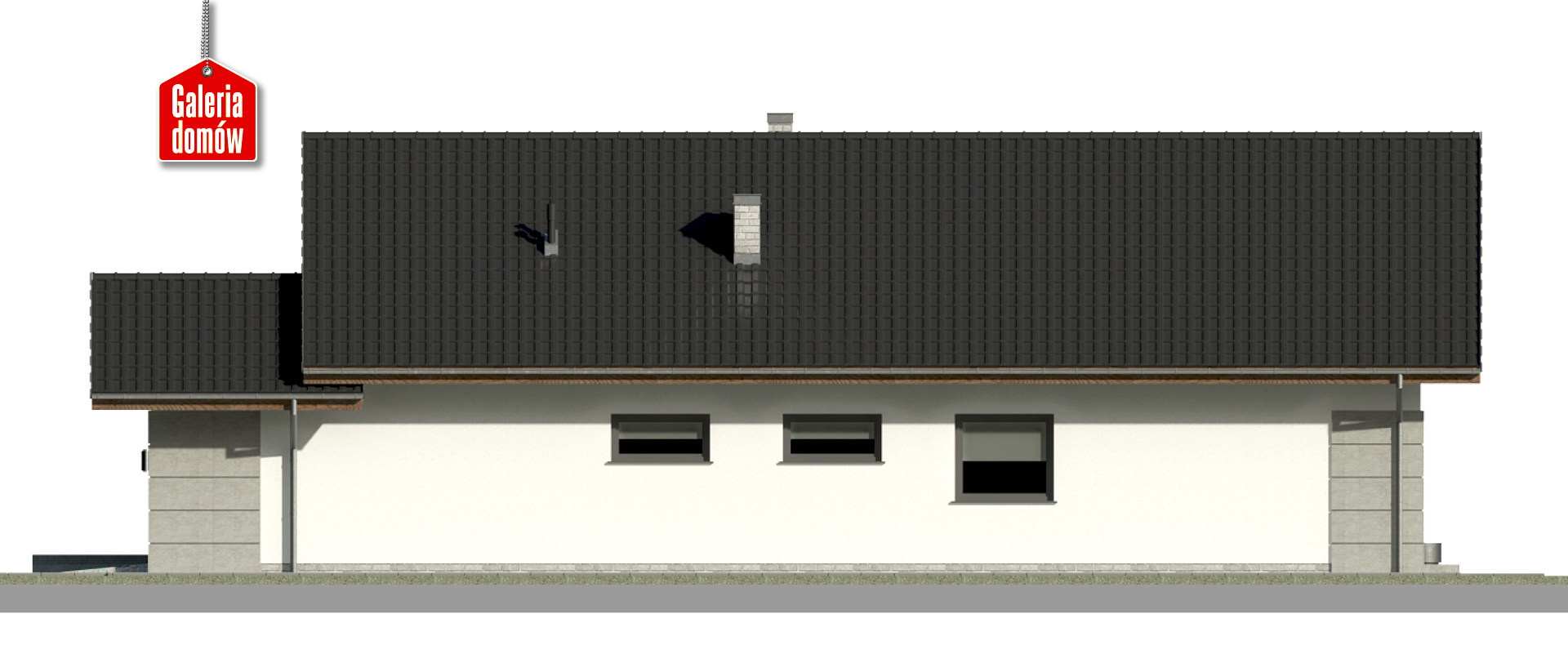 Dom przy Pastelowej 19 D bis - elewacja prawa