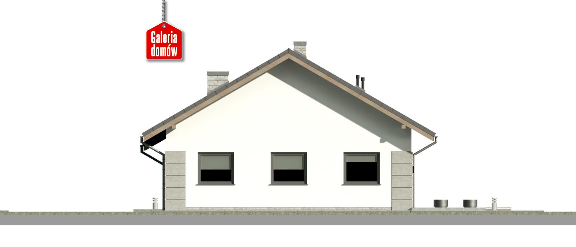 Dom przy Pastelowej 19 D bis - elewacja tylna