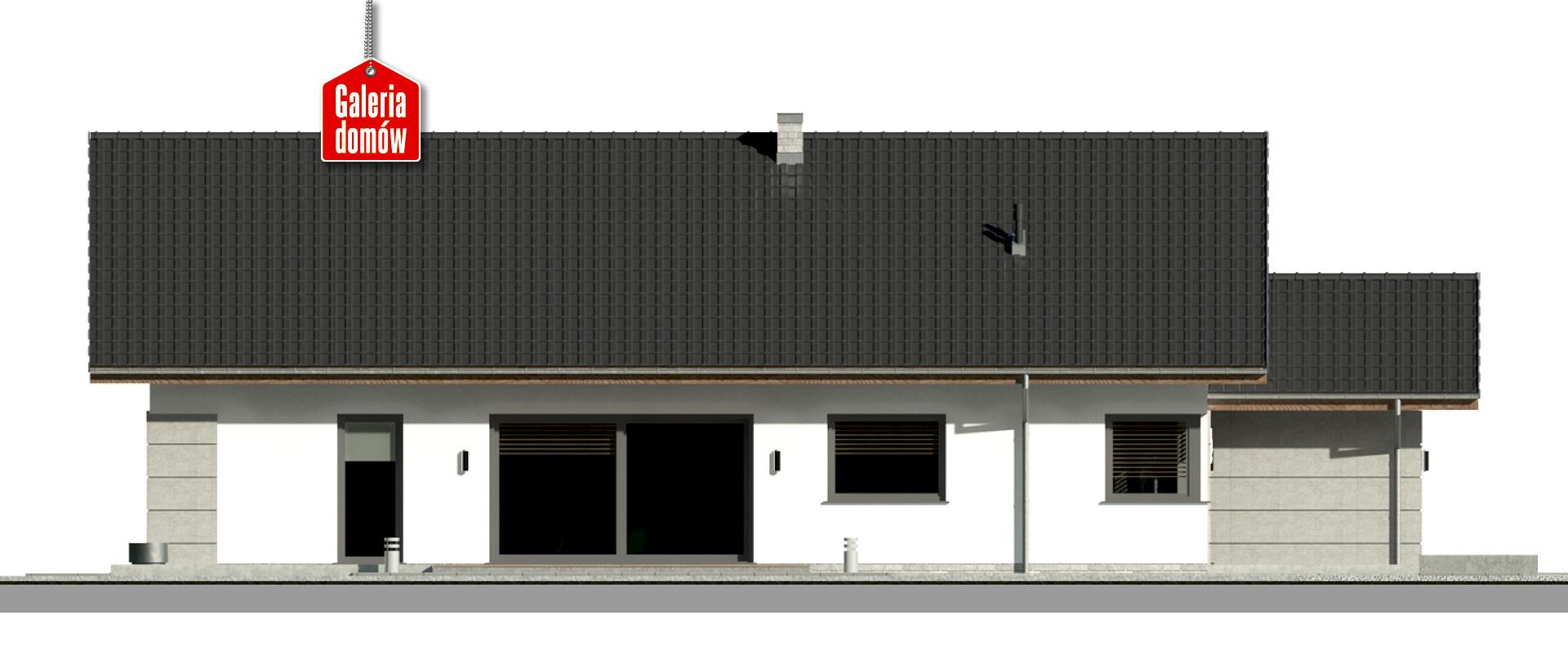 Dom przy Pastelowej 19 D bis - elewacja lewa