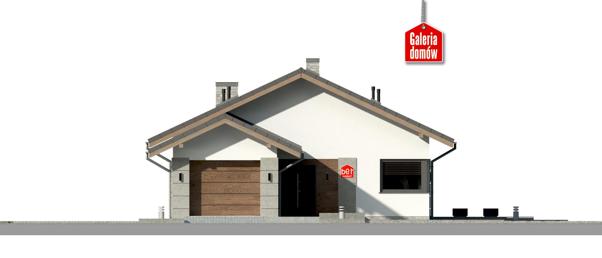 Dom przy Pastelowej 19 D - elewacja frontowa