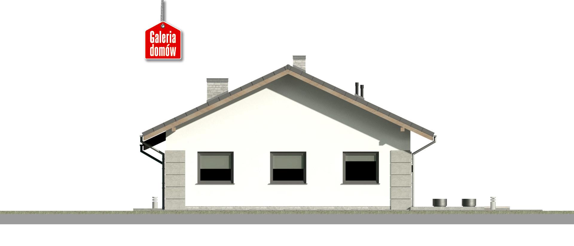 Dom przy Pastelowej 19 D - elewacja tylna