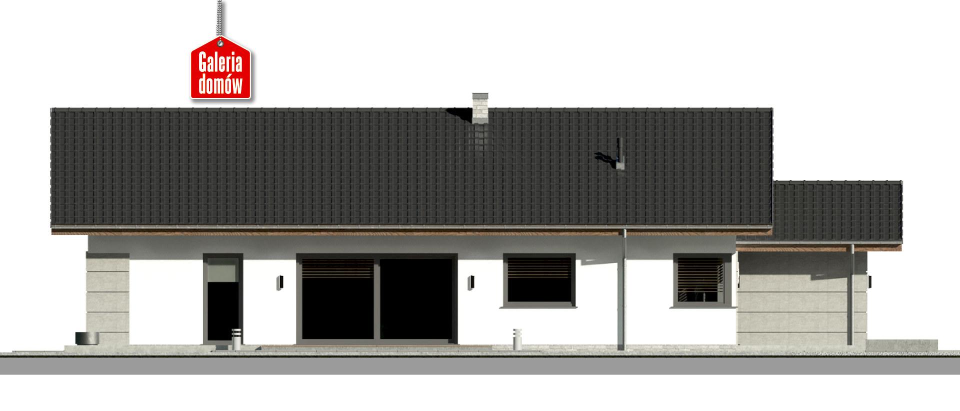Dom przy Pastelowej 19 D - elewacja lewa