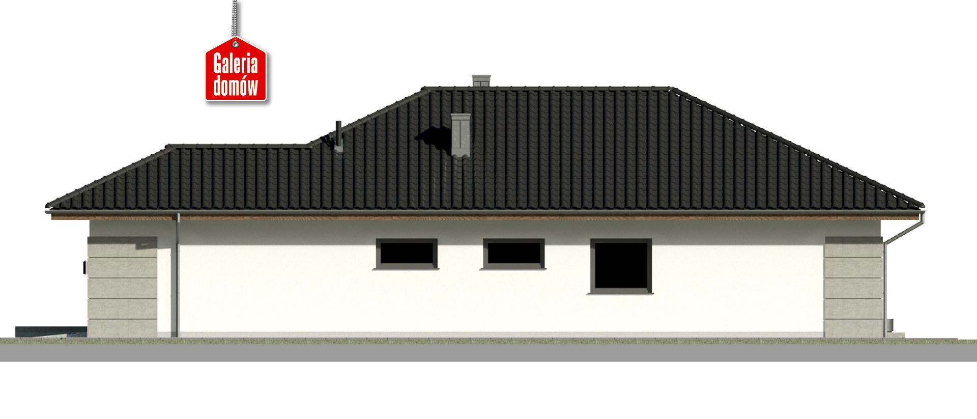 Dom przy Pastelowej 19 - elewacja prawa