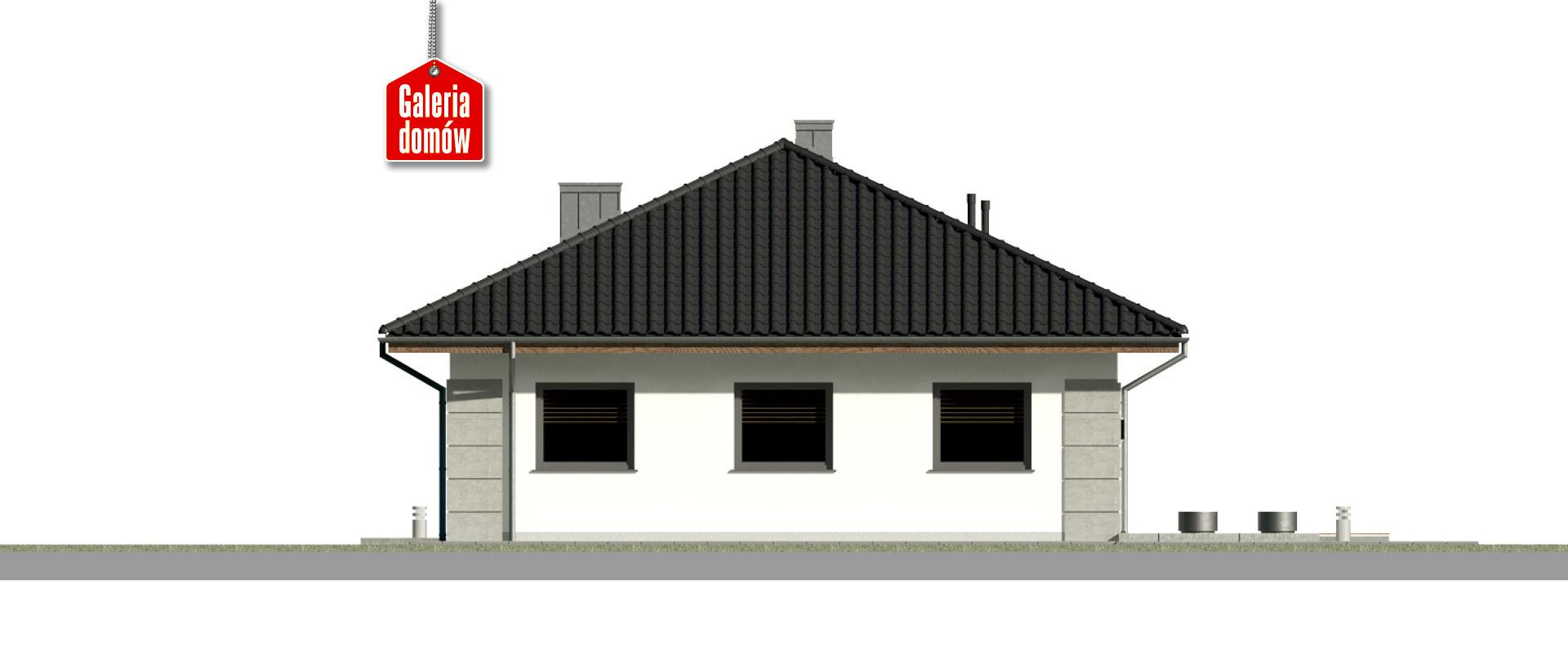 Dom przy Pastelowej 19 - elewacja tylna