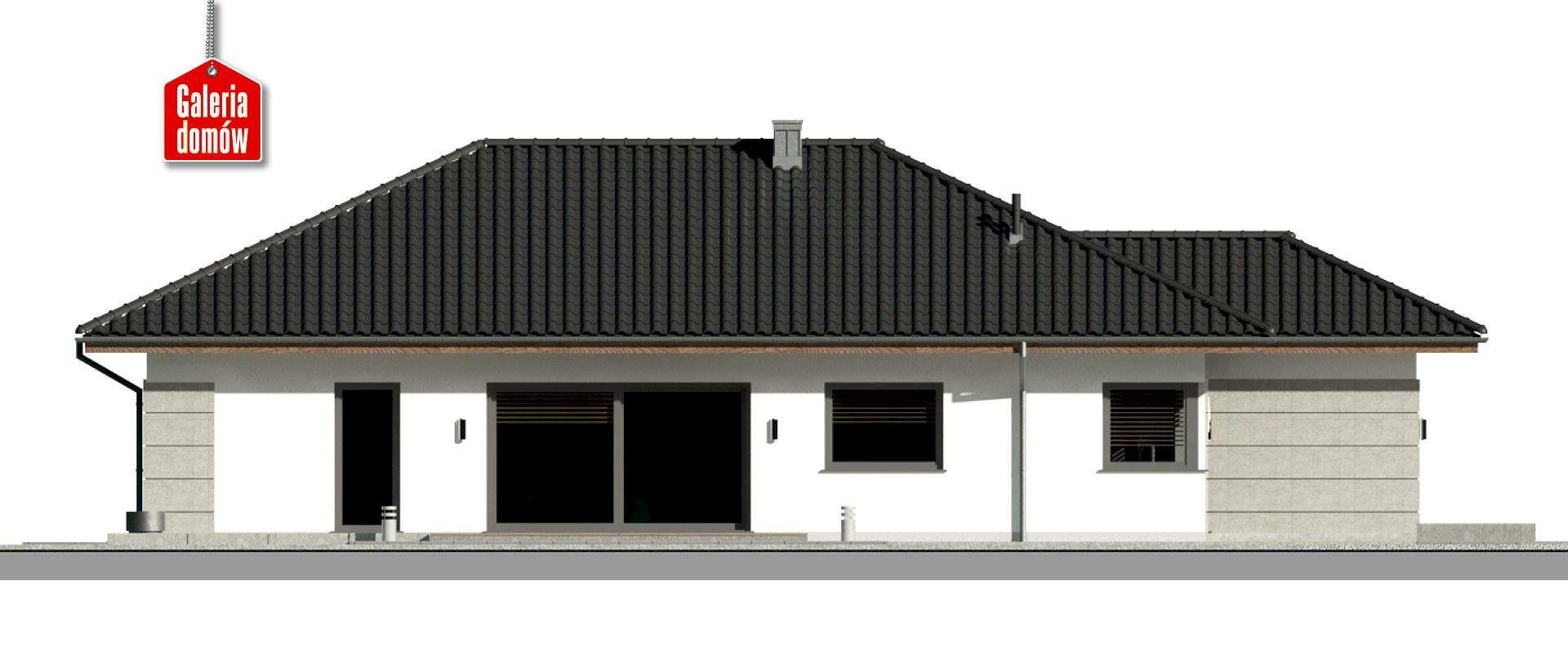 Dom przy Pastelowej 19 - elewacja lewa
