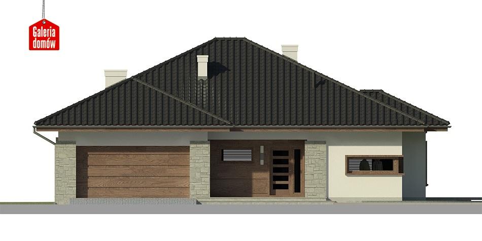 Dom przy Pastelowej 2 bis - elewacja frontowa