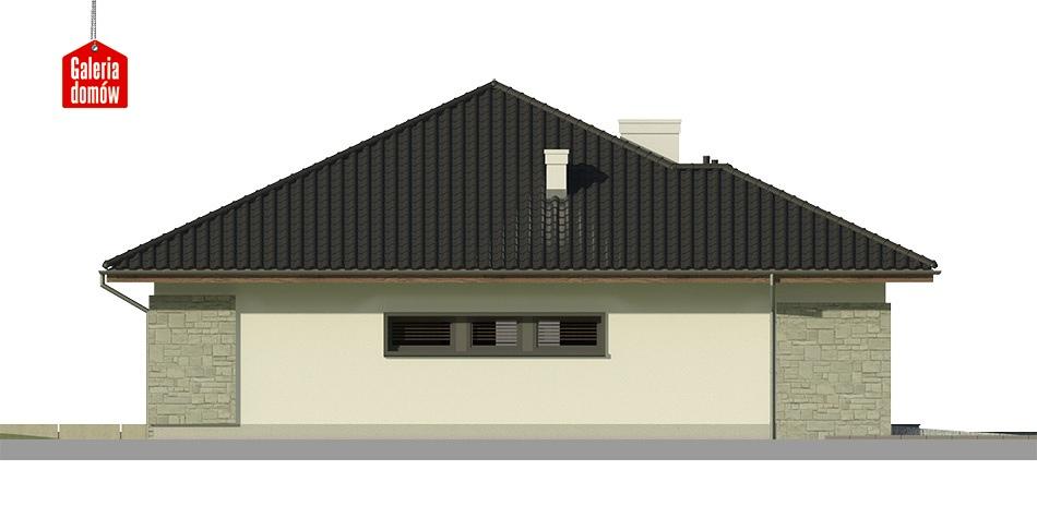 Dom przy Pastelowej 2 bis - elewacja prawa